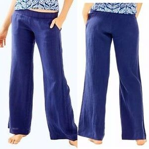 Lilly Pulitzer Pants - Lilly Pulitzer Bal Harbour Linen Palazzo Pant XS